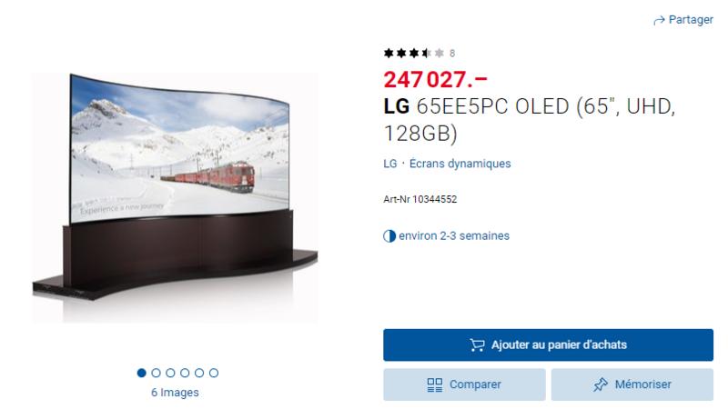 """LG 65EE5PC OLED (65"""", UHD, 128GB)"""