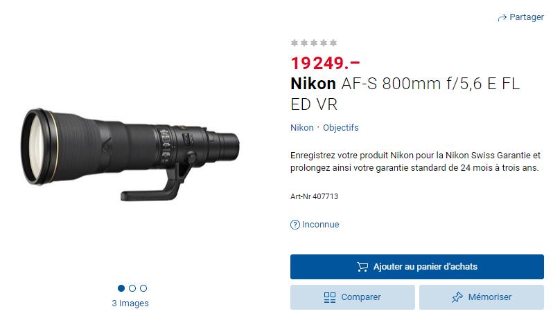 Nikon AF-S 800mm f/5,6 E FL ED VR