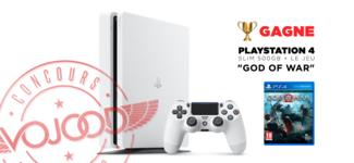 "GAGNE ta PlayStation 4 Slim 500GB + le jeu ""God of War"""